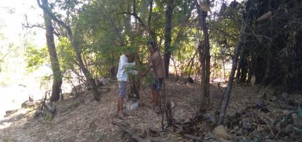 Pemasangan Tapal Batas Wilayah Desa Tembok Telah Rampung